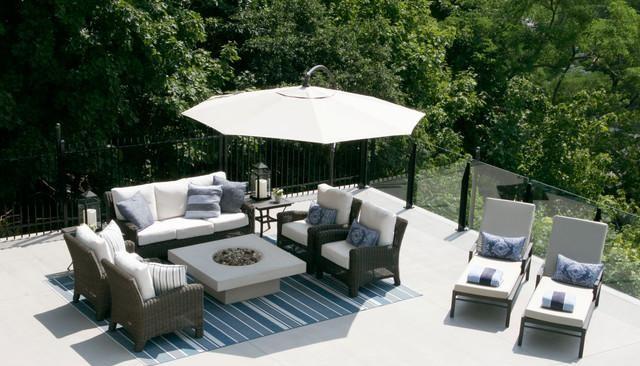 美式風格客廳復式二樓舒適白色簡約露臺花園裝修效果圖