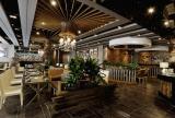 餐饮店餐厅餐厅吊顶餐厅背景墙餐台大气简欧风格餐馆设计图效果图欣赏