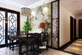 餐椅吊灯餐台椅凳背景墙家具餐桌餐椅椅凳中式风格餐厅背景墙装修效果图中式风格餐厅吊灯图片