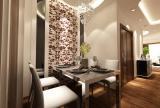 110㎡2室2厅1厨1卫现代简约风格餐厅背景墙装修效果图现代简约风格餐台图片