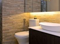 现代简约三居室卫生间梳妆台灯具装修效果图欣赏