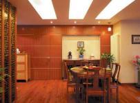 隱形門燈具餐廳家具餐邊柜中式風格餐廳吊頂裝修圖片中式風格餐椅餐桌圖片效果圖大全