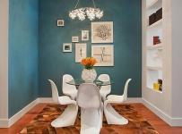 装饰画吊灯餐椅椅凳餐厅家具现代简约风格餐厅背景墙装修效果图现代简约风格餐台图片
