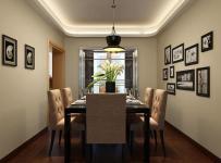 装饰画吊灯餐台椅凳餐厅背景墙现代简约风格餐厅照片墙装修效果图现代简约风格餐桌餐椅图片