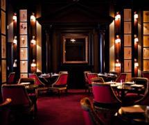 美式古典家具餐台工装椅凳餐厅背景墙微晶石电视背景墙美式古典风格酒店餐厅区装修图片效果图欣赏