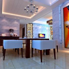 灯具吊灯餐边柜餐桌餐椅新中式风格餐厅吊顶装修效果图新中式风格餐桌椅图片
