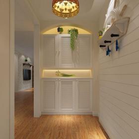 田園風格二居室玄關走廊裝修圖片效果圖欣賞