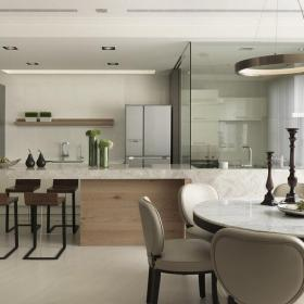 新房餐桌椅餐臺家具小復式樓餐桌餐椅椅凳現代簡約風格餐廳裝修圖片效果圖大全