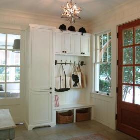 田園風格三室一廳玄關裝修效果圖田園風格鞋柜圖片