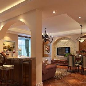 歐式風格三居室餐廳燈具裝修圖片效果圖大全