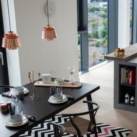 簡約風格復式公寓餐臺圖片效果圖