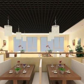 簡約風格特色火鍋店室內裝修效果圖簡約風格餐臺圖片