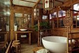 中式风格卫生间实木卫浴挂件效果图