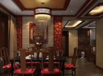 中式风格三居室餐厅吊顶装修效果图欣赏