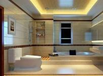 新中式三居室卫生间吊顶装修效果图欣赏
