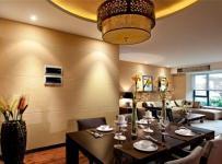 中式古典三居室餐厅吊顶装修效果图欣赏