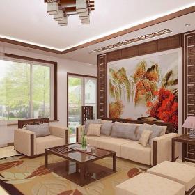现代中式上海实创装饰之现代中式浦江晶寓屋装修效果图