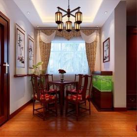 餐廳餐廳背景墻中式風格休息室裝修效果圖