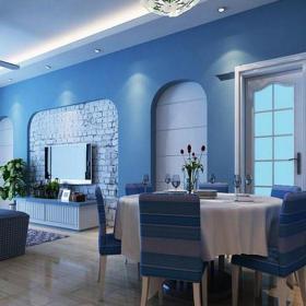 地中海風格三居室餐廳餐桌裝修圖片效果圖
