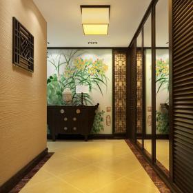過道玄關中式風格走廊效果圖