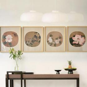玄关中式壁画贴图欣赏效果图