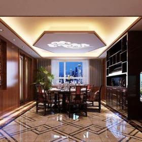 中式风格四居室餐厅酒柜装修效果图欣赏