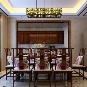 中式古典四居室餐厅酒柜装修效果图大全
