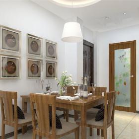 中式风格二居室餐厅酒柜装修效果图欣赏