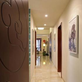 中式風格二居室玄關走廊裝修圖片效果圖