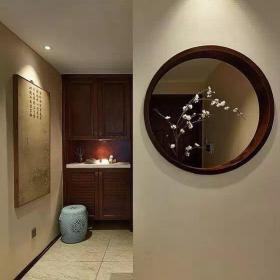 中式風格三居室玄關走廊裝修效果圖大全