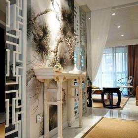 中式風格三居室玄關走廊裝修圖片裝修效果圖