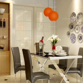 混搭背景墙混搭餐厅背景墙融入中式元素的现代风格餐厅家装效果图