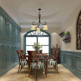 地中海風格二居室餐廳餐桌裝修效果圖