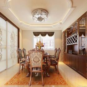 中式古典五居室餐厅酒柜装修效果图大全