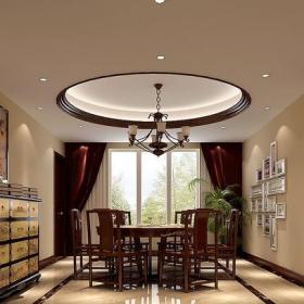 新中式三居室餐厅酒柜装修效果图大全