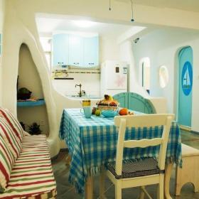 餐桌餐椅地中海風格餐廳裝修效果圖