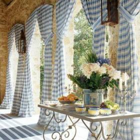 家飾別墅餐桌餐椅入戶花園悠悠地中海風格穿梭在花園中裝修效果圖