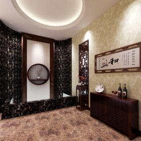 中式風格別墅玄關走廊裝修效果圖欣賞
