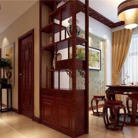 中式古典二居室餐厅酒柜装修图片效果图欣赏