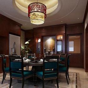 中式风格六居室餐厅酒柜装修效果图