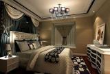 吊顶照片墙后现代风格两室一厅卧室背景墙装修效果图后现代风格两室一厅床头柜图片