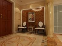 实木门射灯地面拼花装饰画256㎡大户型简欧风格过道背景墙装修效果图简欧风格椅凳图片