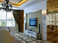 简欧风格客厅地面拼花装修图片简欧风格电视柜图片效果图大全