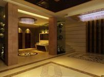 简欧风格酒店卫生间地面拼花装修图片简欧风格面盆图片效果图欣赏