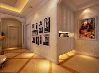 門廳進門鞋柜照片墻二居100㎡玄關歐式風格鞋柜圖片裝修效果圖