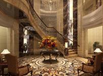 简欧风格大厅地面拼花装修效果图简欧风格吊灯图片