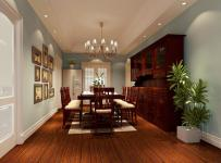 储物柜地柜吊灯照片墙家具美式餐桌餐椅三居开放式餐厅家具图片效果图欣赏