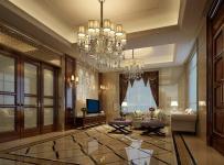 简欧风格客厅地面拼花装修效果图简欧风格电视柜图片