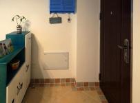 隔斷柜地面拼花73㎡地中海風格過道裝修效果圖地中海風格進門玄關鞋柜圖片