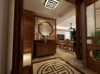 吸頂燈隔斷地面拼花家居擺件柜新中式中式家具160㎡大戶型中式風格玄關吊頂裝修效果圖中式風格玄關柜圖片
